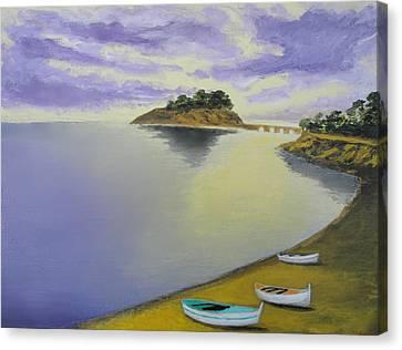 Morning Sea Canvas Print by Larry Cirigliano