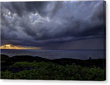 Morning Squall Canvas Print by Mike Herdering