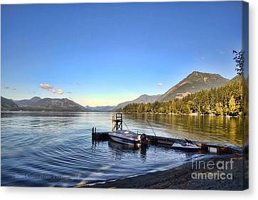 Mornings In British Columbia Canvas Print by Traci Cottingham