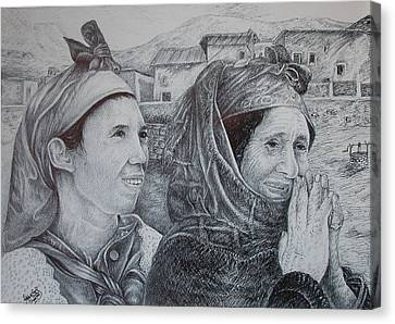 Moroccan Canvas Print - Moroccan Peasant by Fouad Laaniz