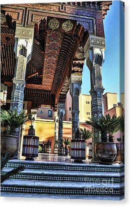 Morocco Architecture II Canvas Print by Chuck Kuhn
