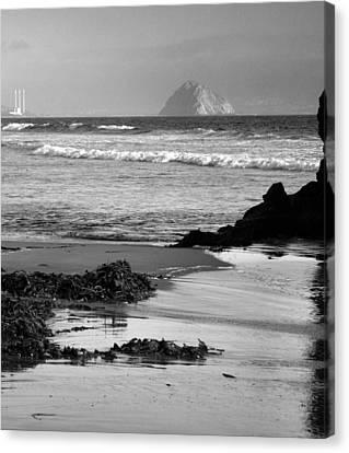 Morro Bay Shoreline V Canvas Print by Steven Ainsworth