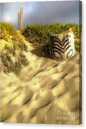 Morro Bay Tiki Head Canvas Print by Gregory Dyer