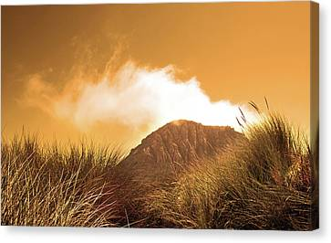 Canvas Print featuring the photograph Morro Rock by Michael Rock