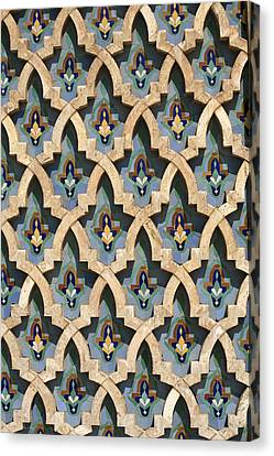 Mosaic Wall, Hassan II Mosque-casablanca, Morocco Canvas Print by Hisham Ibrahim