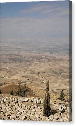 Moses First Saw The The Holy Land Canvas Print by Taylor S. Kennedy
