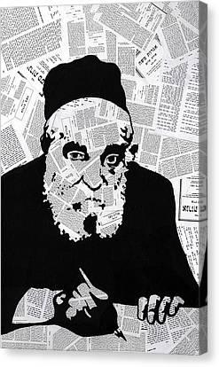 Moshe Feinstein Canvas Print - Moshe Feinstein by Anshie Kagan
