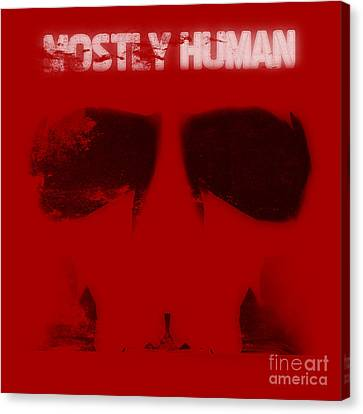 Mostly Human 1 Canvas Print by Pixel Chimp