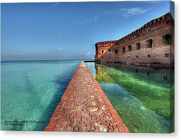 Mote Wall Walk Canvas Print by Sean Allen