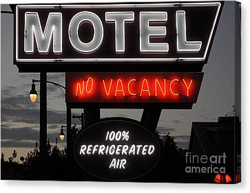 Motel - No Vacancy - 5d17747 Canvas Print by Wingsdomain Art and Photography