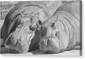 Mother-daughter Time Canvas Print by Heather Ward