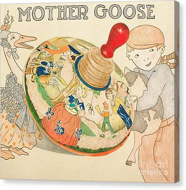 Mother Goose Spinning Top Canvas Print by Glenda Zuckerman