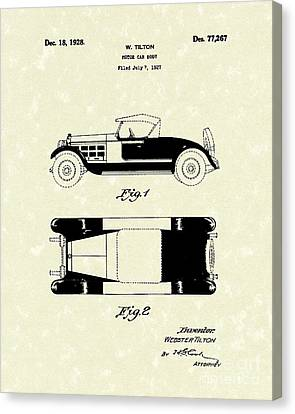 Motor Car Tilton 1928 Patent Art Canvas Print by Prior Art Design