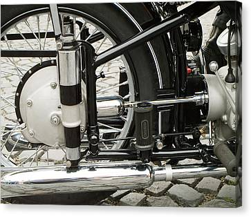 Motorcycle Canvas Print by Odon Czintos