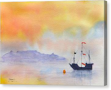 Mouille Point Mooring Cape Town Canvas Print by Harold Kimmel