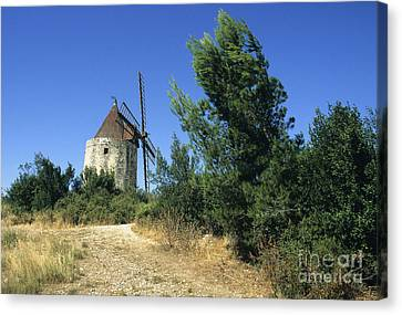 Moulin Of Daudet. Fontvieille. Provence Canvas Print
