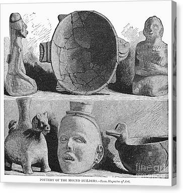 Mound Builders: Pottery Canvas Print by Granger