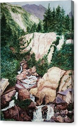 Mounrain Creek Falls Canvas Print by Vikki Wicks