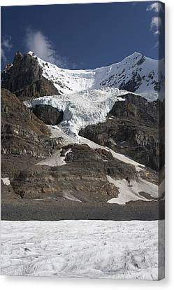 Mount Andromeda And Athabasca Glacier Canvas Print by Matthias Breiter