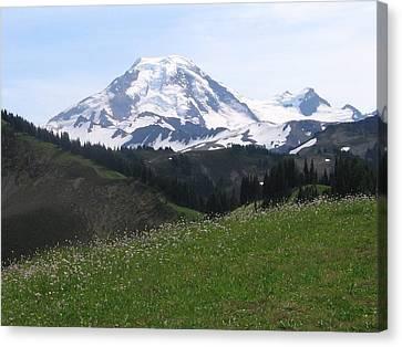 Canvas Print featuring the photograph Mount Baker From The Skyline Divide by Karen Molenaar Terrell