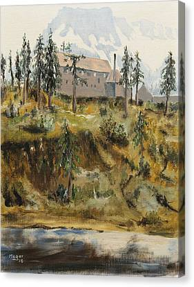 Mount Baker Lodge Canvas Print by Alan Mager