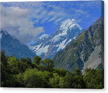 Canvas Print featuring the photograph Mount Cook by David Gleeson
