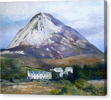 Mount Errigal Co. Donegal Ireland 1997 Canvas Print by Enver Larney