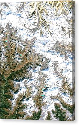 Mount Everest  Canvas Print by Planet Observer and Photo Researchers