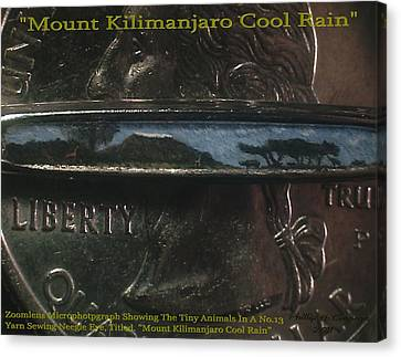 Mount Kilimanjaro Cool Rain  Canvas Print by Phillip H George