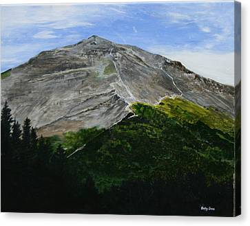 Mount Marathon  Canvas Print by Betty-Anne McDonald
