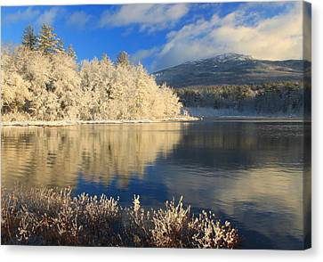 Mount Monadnock Early Winter Snow Canvas Print by John Burk