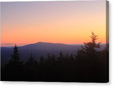 Mount Monadnock From Pack Monadnock At Dusk Canvas Print by John Burk