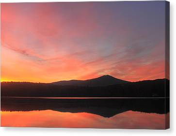 Mount Monadnock Sunrise From Stone Pond Canvas Print by John Burk