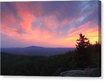 Mount Monadnock Sunset From North Pack Monadnock Canvas Print by John Burk