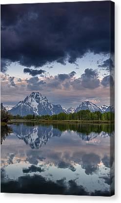 Mount Moran Under Black Cloud Canvas Print by Greg Nyquist