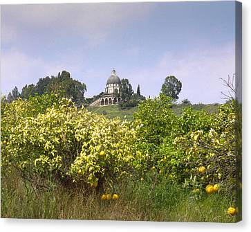 Mount Of Beatitudes Canvas Print by Daniel Blatt