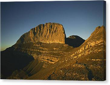 Mount Olympus, Home Of The Gods Canvas Print by Martin Gray