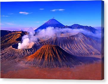 Volcano Rock Canvas Print - Mount by Photo By Prasit Chansareekorn