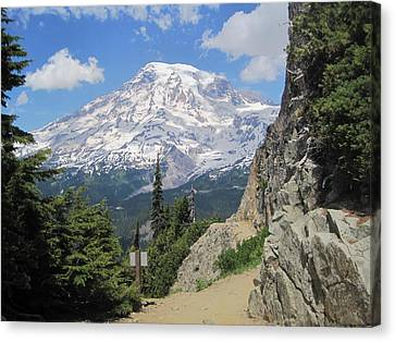 Mount Rainier From The Pinnacle Peak Trail Canvas Print