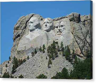 Mount Rushmore From A Different View Canvas Print by Joseph Hendrix