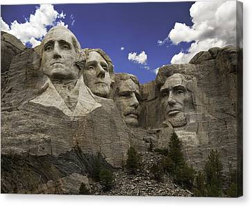 Canvas Print featuring the photograph Mount Rushmore  by Paul Plaine