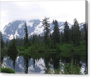 Canvas Print featuring the photograph Mount Shuksan by Karen Molenaar Terrell