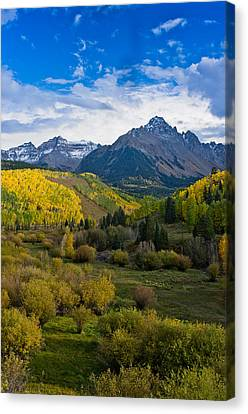 Mount Sneffels Under Autumn Sky Canvas Print