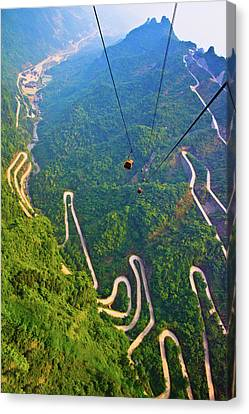 Mount Tianmen Canvas Print by Feng Wei Photography