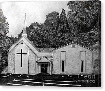 Mount Union Church Of The Brethren Canvas Print by Julie Brugh Riffey