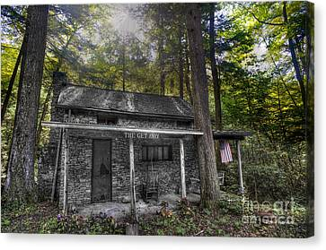 Mountain Cabin Canvas Print by Dan Friend