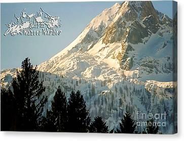 Mountain Christmas 2 Austria Europe Canvas Print by Sabine Jacobs