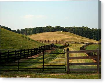 Mountain Farmland Canvas Print