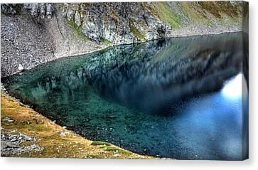 Mountain Lake Canvas Print by Martin Marinov