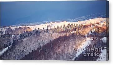 Mountain Landscape In Brasov County Canvas Print by Gabriela Insuratelu
